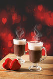 Steaming Hot Chocolates Royalty Free Stock Photography
