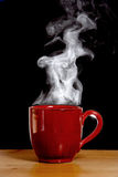 Steaming Hot Coffee Stock Image