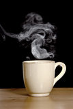 Steaming Hot Coffee Royalty Free Stock Images