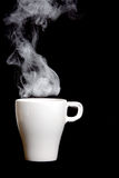 Steaming Hot Coffee Stock Photography
