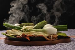 Steaming hot Mexican food Royalty Free Stock Photography