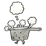 Steaming hot pan cartoon Royalty Free Stock Photography