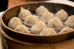 Steaming hot shanghai dumpling royalty free stock photo