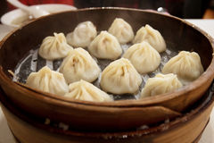 Steaming hot shanghai dumpling Royalty Free Stock Photos