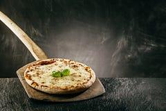 Steaming hot tasty margarita Italian pizza Royalty Free Stock Photos