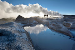 Steaming hot water ponds and mud pots, Bolivia Stock Photo