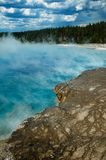 Steaming hythermal pool Royalty Free Stock Photo