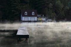 Steaming Lake Stock Photo