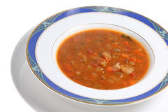 Steaming Minestrone Soup Bowl Royalty Free Stock Photo