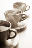 Steaming mugs Royalty Free Stock Images