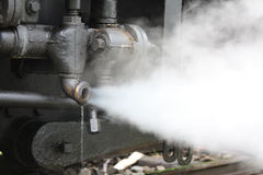 Steaming pipe Royalty Free Stock Images