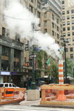 Steaming pipe in Midtown Manhattan Royalty Free Stock Photo