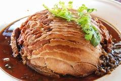 Steaming pork leg Stock Images
