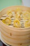 Steaming pork and shrimp dumplings Royalty Free Stock Image