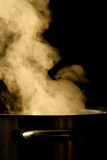 Steaming pot royalty free stock image