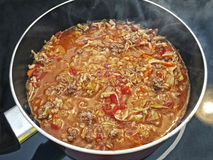 A Steaming Pot of Goulash Royalty Free Stock Photo