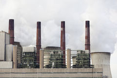 Steaming Power Station Royalty Free Stock Photography