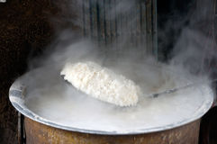 Steaming Rice Royalty Free Stock Photography
