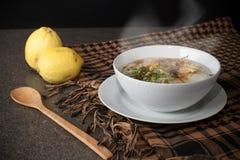 Thai foods Joke (Rice Porridge with mince pork) Stock Photo