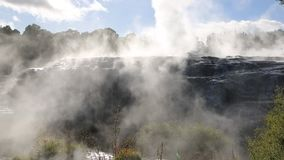 Steaming Rock stock footage
