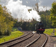 Steaming round the bend Stock Photography