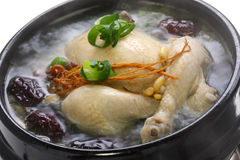 Steaming samgyetang Royalty Free Stock Image