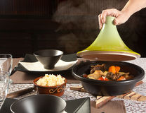 Steaming tajine food Royalty Free Stock Photo