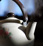 Steaming Tea Pot Stock Image