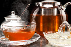 Steaming tea Royalty Free Stock Image