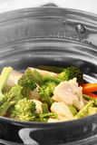 Steaming vegetables Royalty Free Stock Photography