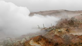 Geothermal activity in Iceland stock video