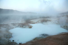 Steaming volcanic pool Royalty Free Stock Photography