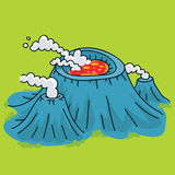 Steaming Volcano Stock Images