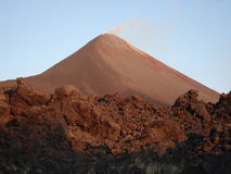 Steaming Volcano Royalty Free Stock Image