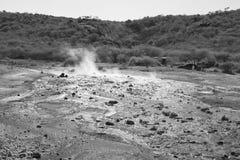 Steaming water at Lake Bogoria, Kenya Stock Image