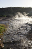 Steaming water at Lake Bogoria, Kenya Royalty Free Stock Photo