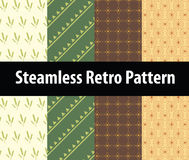 Steamless retro patterns Stock Images