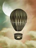 Steampuk balloon Stock Image