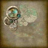 Steampunk占星术/指南针设备 库存图片