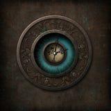 Steampunk哥特式时钟 库存例证
