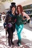 Steampunk女孩和毒葛 免版税库存照片