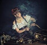 SteamPunk女孩 免版税库存图片