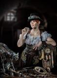 SteamPunk女孩 免版税库存照片