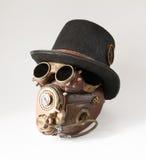 Steampunk帽子、风镜和面具 库存图片