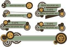 Steampunk机制横幅 免版税库存图片