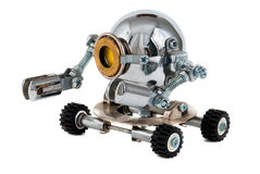 Steampunk机器人。 库存照片