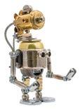 Steampunk机器人 库存照片