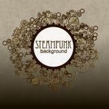 Steampunk样式 模板卡片的steampunk设计 免版税库存照片