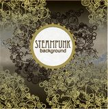 Steampunk样式 模板卡片的steampunk设计 库存照片