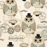 Steampunk猫头鹰 免版税库存图片